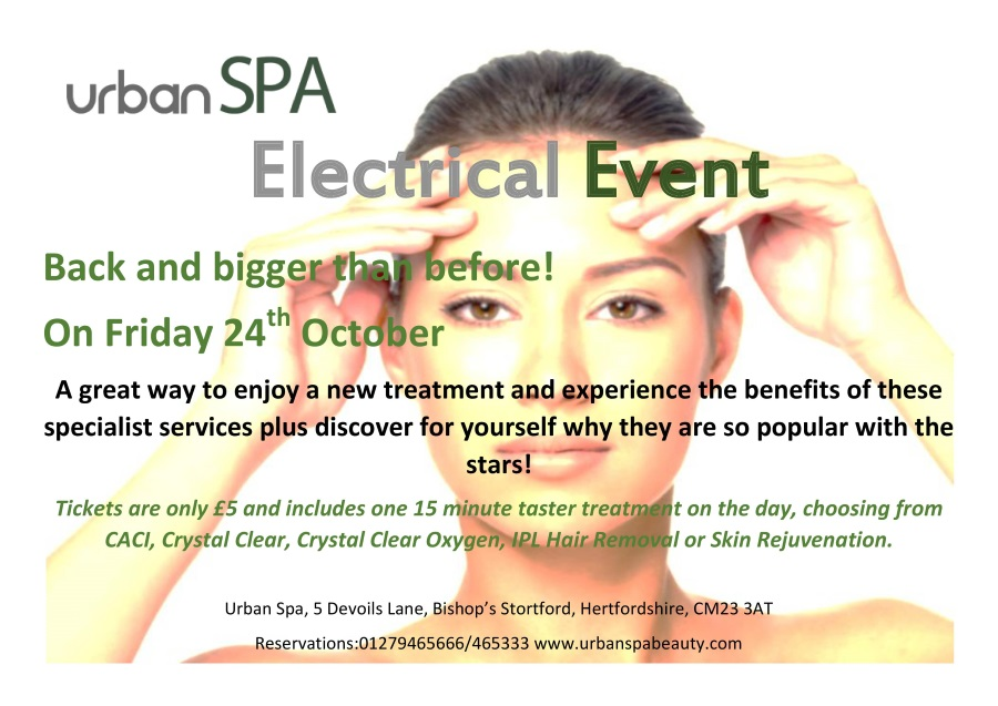 Electrical Event at Urban Spa!
