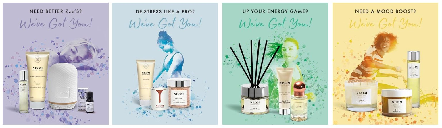 neom organic products, wellbeing treatments, the skin clinic at urban spa, bishops stortford