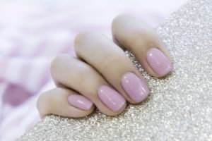 pearlescent pink nails, skin clinic and beauty salon in bishop's stortford, hertfordshire