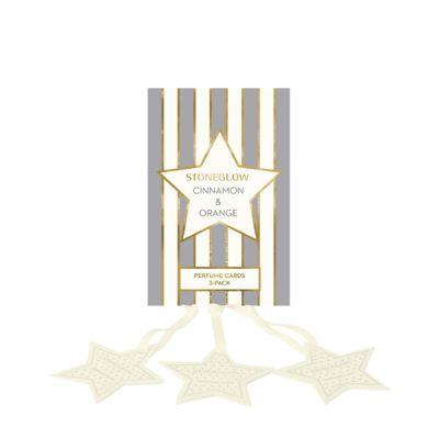 Stoneglow Seasonal Collection - Cinnamon & Orange - Perfume Hanging Stars 3-Pack
