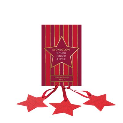 Stoneglow Seasonal Collection - Nutmeg, Ginger & Spice - Perfume Hanging Stars 3-Pack