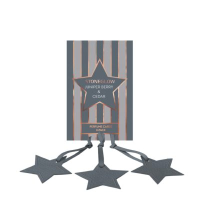Stoneglow Seasonal Collection - Juniper Berry & Cedar - Perfume Hanging Stars 3-Pack