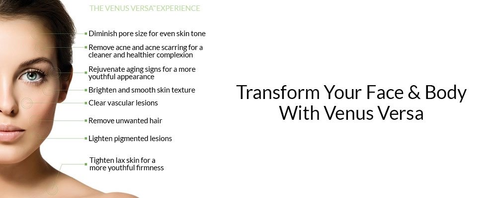 Transform Your Face Body With Venus Versa banner updated