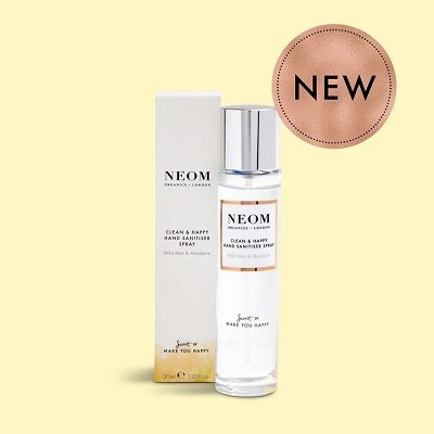 NEOM Clean & Happy Hand Sanitiser Spray 30ml